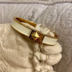 Kate Spade Classic White Bangle Bracelet
